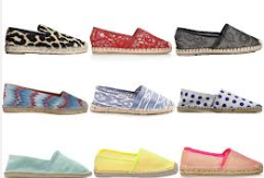 Slip on shoes in different colors